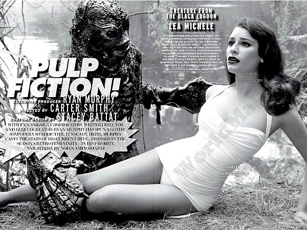 Lea fera une apparition du numéro de Février du magazine Elle version américaine, en noir et blanc. ♥