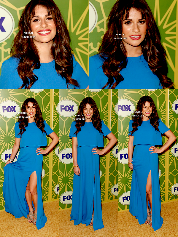 "Lea enfin de sortie était à l'évènement "" 2012 TCA Winter Press Tour - FOX All Star Party "" ! Top ou flop la robe?"