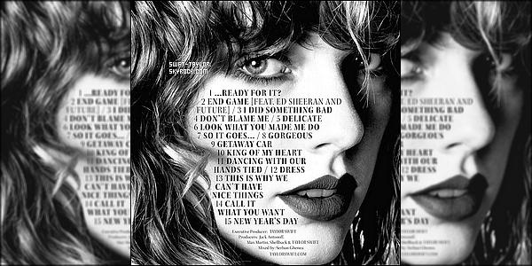 """○ Découvrez le nouveau titre de l'album Réputation de Taylor """" Call It What You Want """". J'aime beaucoup cette nouvelle chanson. J'ai vraiment hâte d'écouter cette album. et vous, Vous en pensez quoi ?"""