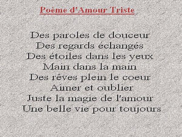Poème Damour Triste Blog De Mon Histoire En Texte