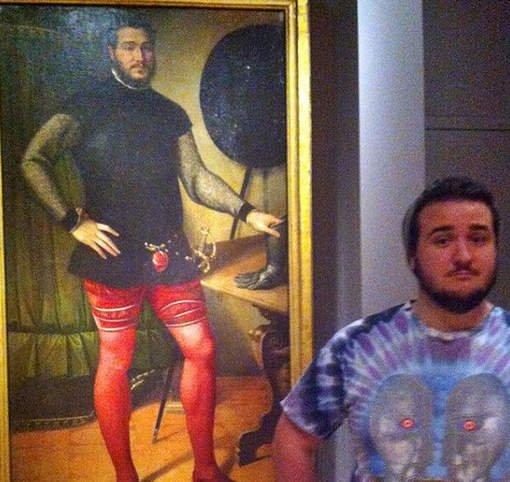 Il se reconnaît sur un tableau vieux de 500 ans