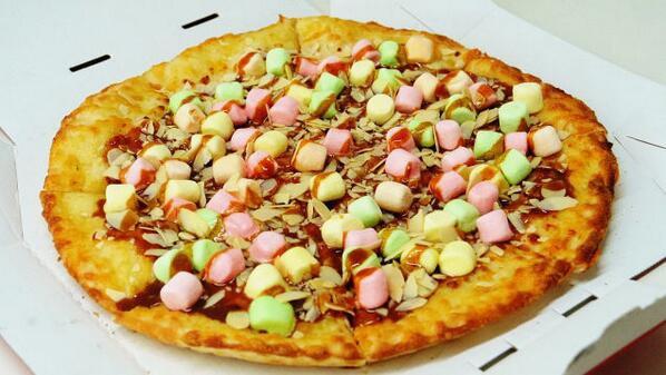 NOURRITURE : Voici la première pizza au caramel et au marshmallow