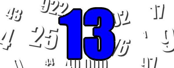 Le chiffre du jour 13 bienvenue sur mon blog for Le chiffre 13