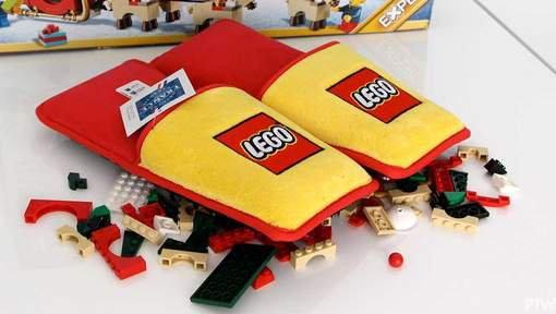 Les pantoufles anti-Lego pour noël