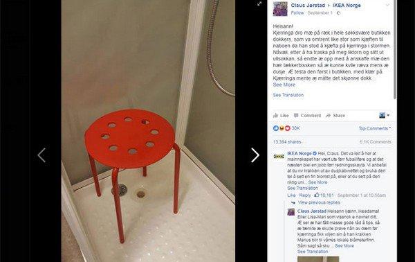 Il se plaint auprès d'Ikea car un de ses testicules est resté coincé dans un tabouret