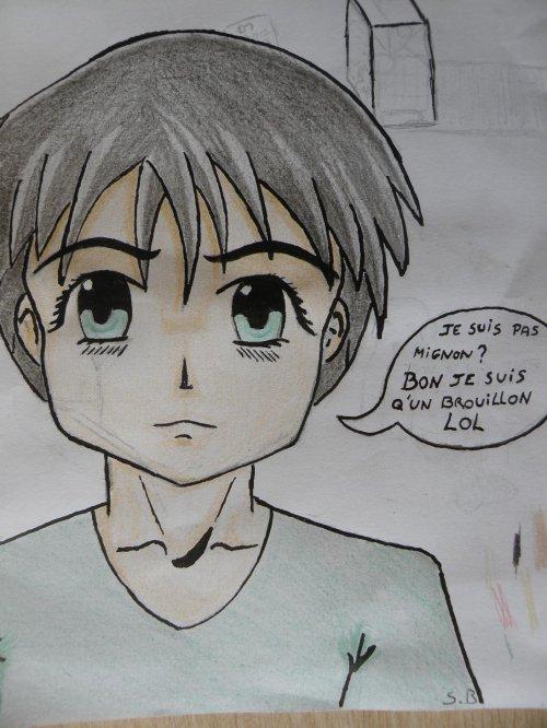 Garcon Premier Essai A L Encrage Et Crayon De Couleur Blog De