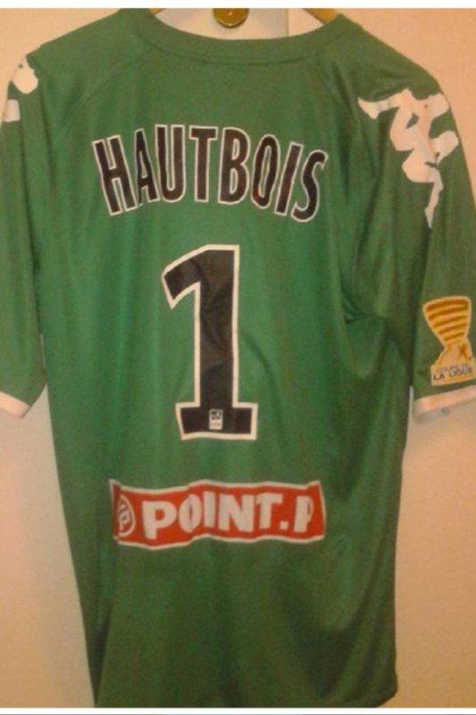 Maillot Maxime Hautbois préparé lors d'un match de CDL (je ne sais pas lequel car le maillot m'a été envoyé)