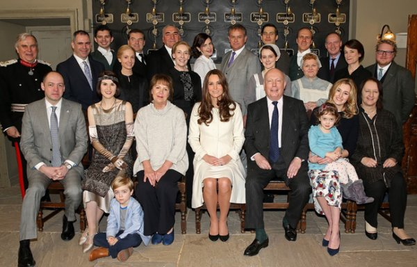 Kate Middleton sur le tournage de Downton Abbey