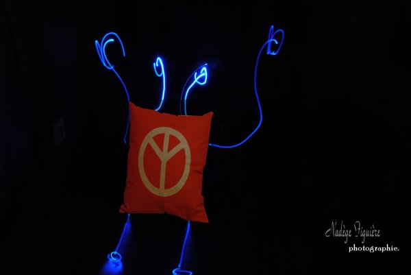 Light painting.