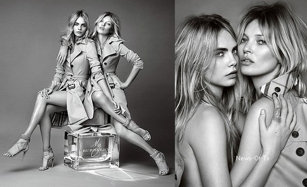 """04.09.2014. Kate Moss & Cara Delevingne pour """"My Burberry"""""""
