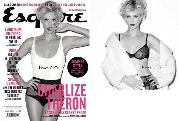 """06.09.2014. Charlize Theron's - Pub """"J'adore"""" + Couverture de """"Esquire"""""""