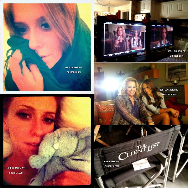#. TWITTER .Découvre les derniers photos de Miss Hewitt prise sur le tournage de TCL ainsi que sur twitter.#