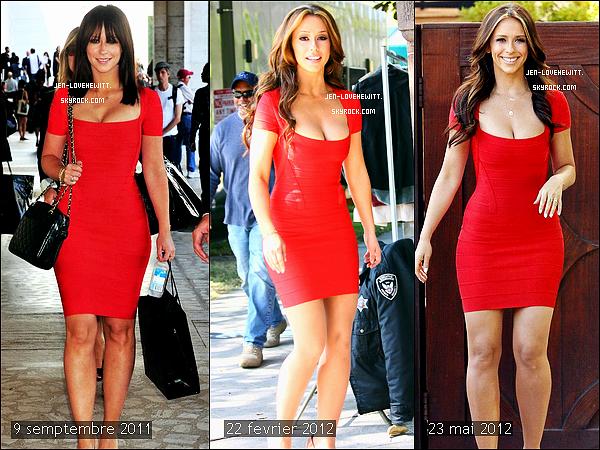 .Jennifer Love Hewitt a vraiment horreur de porter des robes rouges ! la preuve....