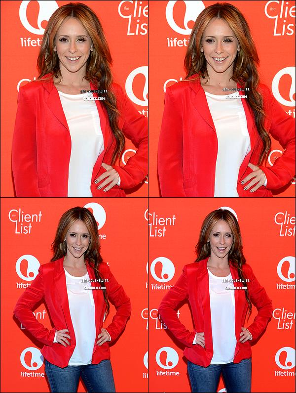""".14/02/13 : Jennifer Love Hewitt au Lifetime's """"The Client List"""" Valentine's Day Event à West Hollywood. (+) Découvrer également des photos de Jennifer et Loretta Divine déjeunant avec quelques uns de leur fans ici. ."""