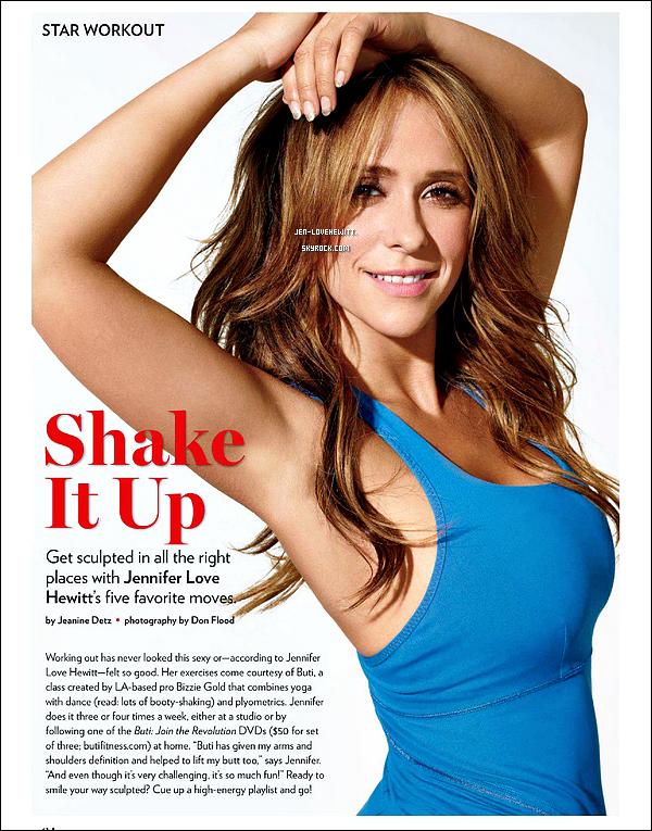 .Voici des scans du magazine « SHAPE » dont Jennifer fait la couverture. (article associé : ici).