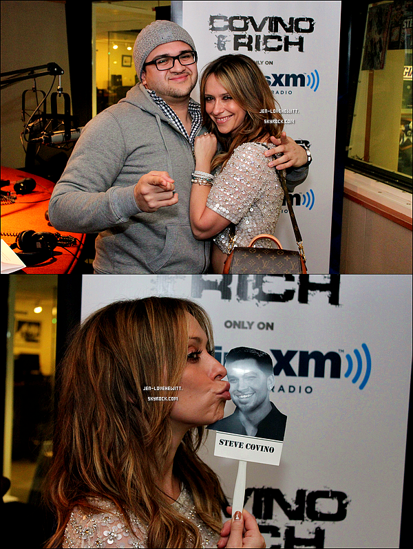 .04/03/13 : Jennifer Love Hewitt s'est rendue à la station radio « Sirius XM » à New-York..