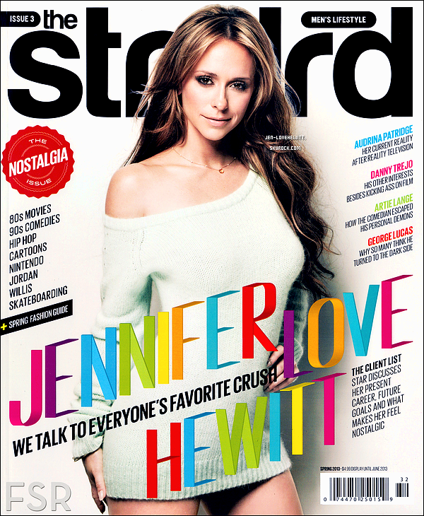 .Jennifer Love Hewitt fait la couverture du magazine « The Stndrd » ce printemps 2013..
