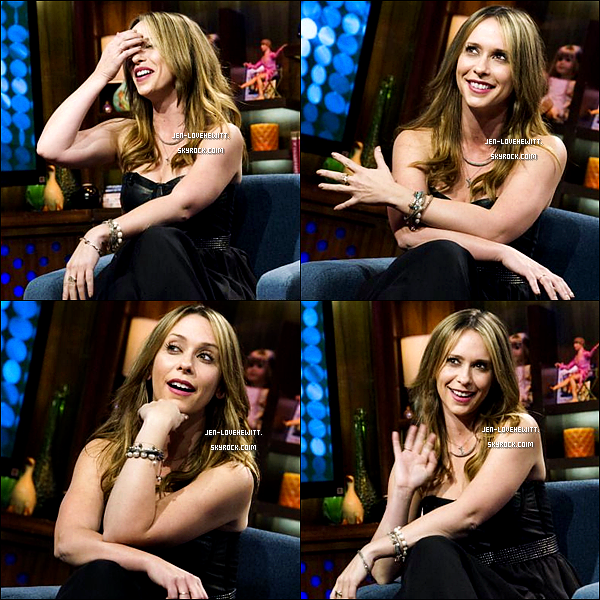 .07/03/13 : Miss Jennifer Love Hewitt s'est rendue à l'émission « Watch what happens live » à New-York City..
