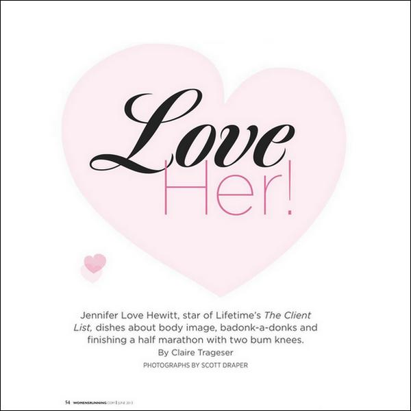 .Jennifer Love Hewitt fera la couverture du magazine « Women's Running » de juin 2013..