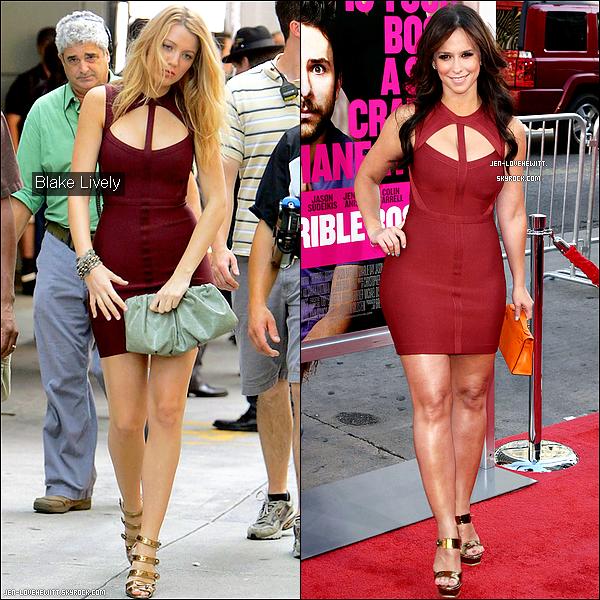 .Parmi ces deux magnifiques jeunes femmes, qui porte le mieux la robe rouge ?.