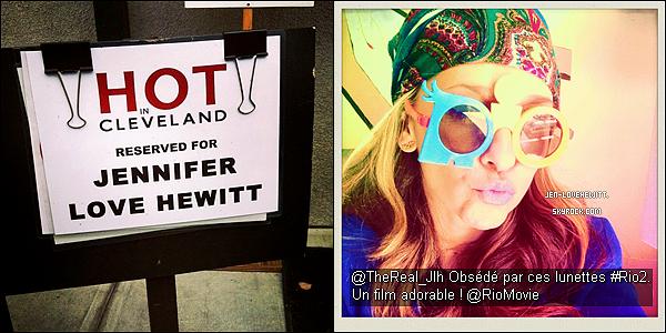 .Voici 2 photos dont une prise sur le set de HIC et l'autre provenant du compte twitter de Jlove. .
