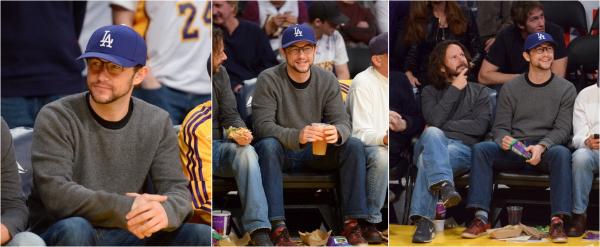 07.01.13 - Joe au match des Lakers avec son père
