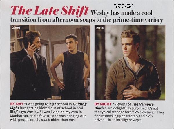 * Scans de Paul, 'Man of Style' dans InStyle Magazine.*