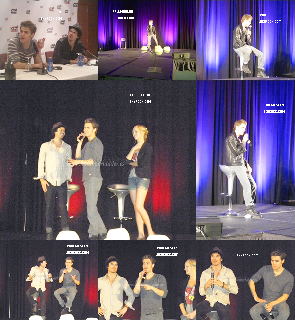 11-12 juin 2011 › Paul W , Ian S. & Candice A. à la convention « Bloody Night Con » à Barcelone.