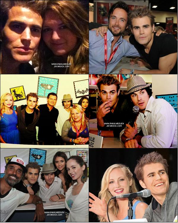 * 23/07/2011 : Paul est allé à la rencontre des fans de TVD lors du Comic Con qui s'est déroulé à San Diego.Ian Somerhalder, Nina Dobrev, Candice Accola, Joseph Morgan, Julie Plec & Kevin Williamson étaient également présents.*