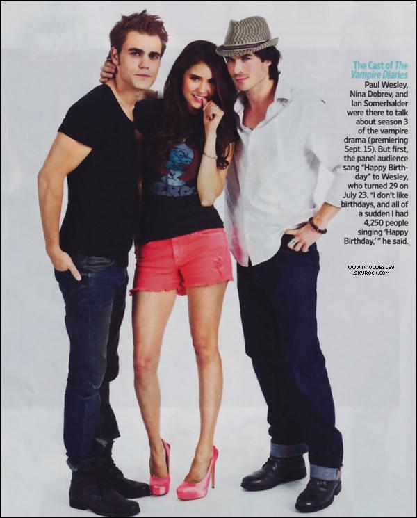 """* Scans du magazine """"TV Guide"""" spécial Comic Con avec une nouvelle photo portrait du cast.*"""
