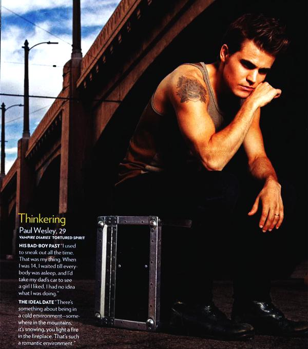 Paul est classé parmi les «hommes les plus sexy de l'année» dans le magazine People.