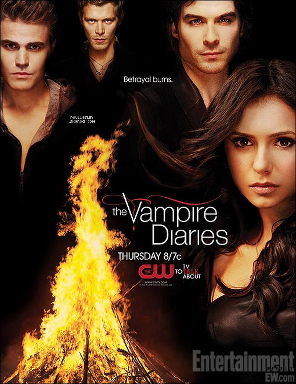 Deux nouveaux posters promotionnels de la saison 3 de TVD avec Paul, Joseph, Nina & Ian.