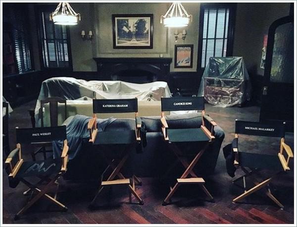 Behind the scene de la saison 8 de The Vampire Diaries.