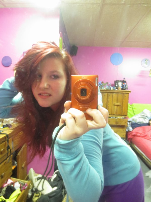 moi et ma nouvelles couleur de cheveux