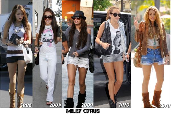 . L'évolution des styles des candids depuis 2008 de nos girls. Ca passe, ou ça casse ! Quel style tu préfères ? .