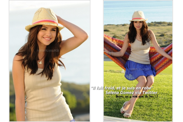 Selena, sur le set du photoshoot de la nouvelle collection printemps de « Dream Out Loud » Tu aimes ?