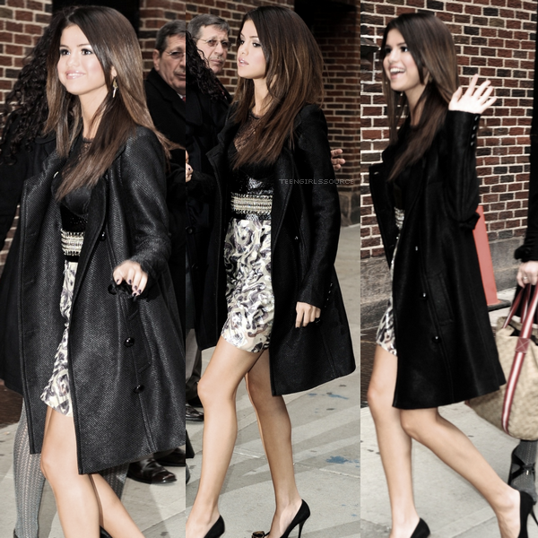 14.03.11 :  Selena arrivant et repartant de chez David Letterman pour la promo de « Who Says ».