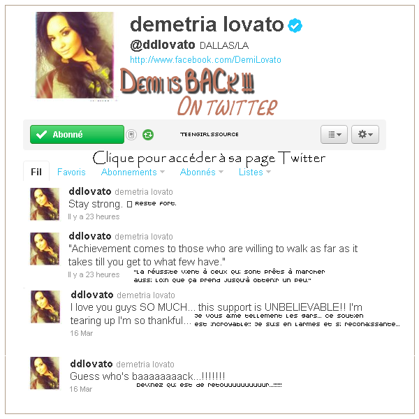 Demi is back !