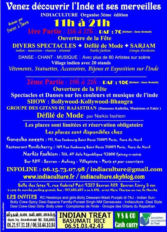 FÊTE DE L'INDE LE 26 MAI 2012 à SEVRAN