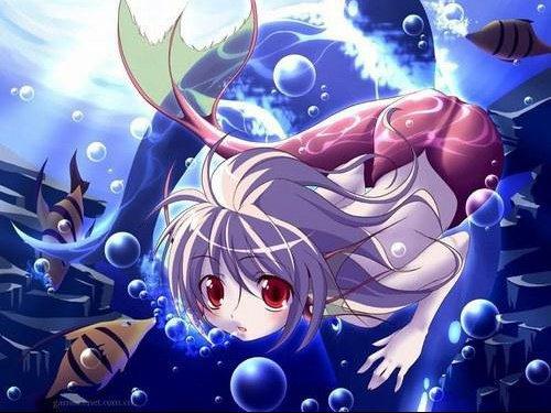 fille avec poisson