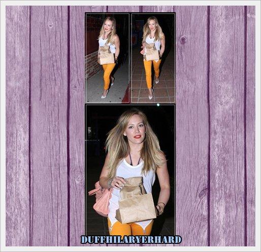 16.06 : Hilary sortant d'un restaurant à Los Angeles , Top ou Flop ? Les commentaires sont rendus double pour tout avis ayant un rapport avec l'article !