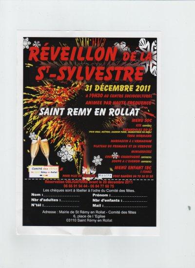 réveillon de la st sylvestre du comité des fetes du 31.12.2011 de st rémy en rollat