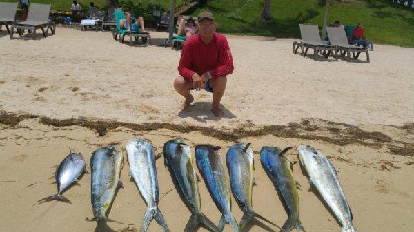 retour de pêche à la traine ile maurice
