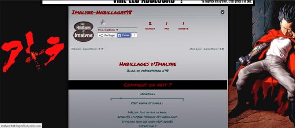 Habillage Blog => Manga