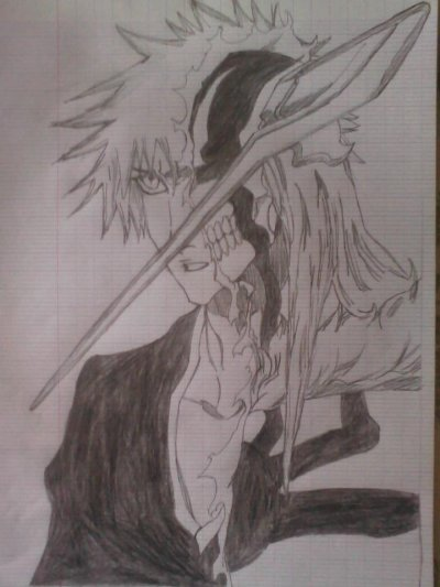 Ichigo hollow que j'ai dessiné