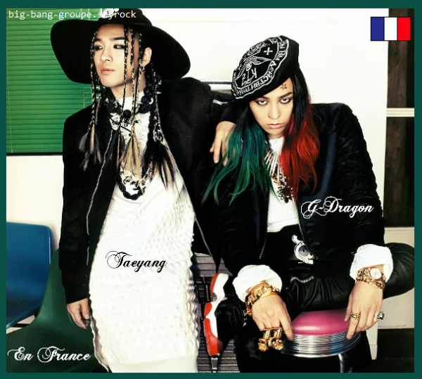 Taeyang et G-Dragon à Paris !