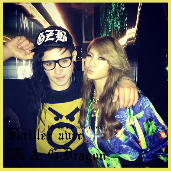 G-Dragon & CL en featuring avec Skrillex !