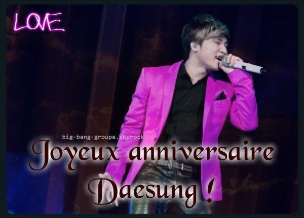 Anniversaire Daesung !