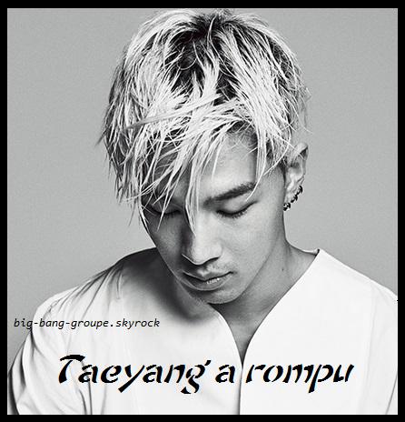 Taeyang a rompu ! Et oui, il était en couple.