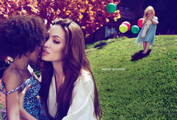 Angelina fera la couverture du Vanity Fair en Octobre prochain, je vous laisse la découvrir, ainsi que quelques clichés qu'elle a accordé au magazine, visiblement en compagnie de ses enfants. Vos avis ?